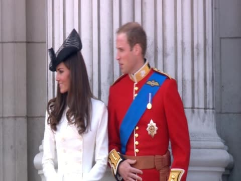 duke and duchess of cambridge at the trooping of the colour - trooping the colour stock videos & royalty-free footage