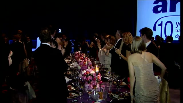 duke and duchess of cambridge attend ark charity dinner william and catherine along to table william along to stage prince william duke of cambridge... - ark stock videos and b-roll footage