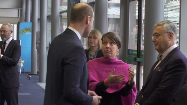 Duke and Duchess of Cambridge attend Children's Global Media Summit ENGLAND Manchester Manchester Central Convention Complex INT Prince William Duke...
