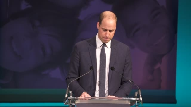 duke and duchess of cambridge attend children's global media summit prince william speech england manchester manchester central convention complex... - greg james stock videos and b-roll footage