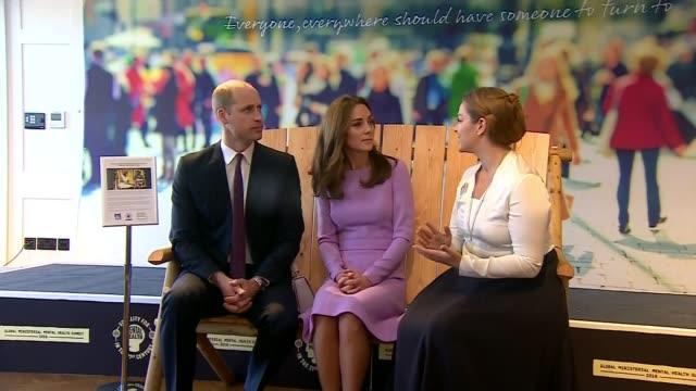 Duke and Duchess of Cambridge attend global mental health summit UK London Prince William Duke of Cambridge and Catherine Duchess of Cambridge...