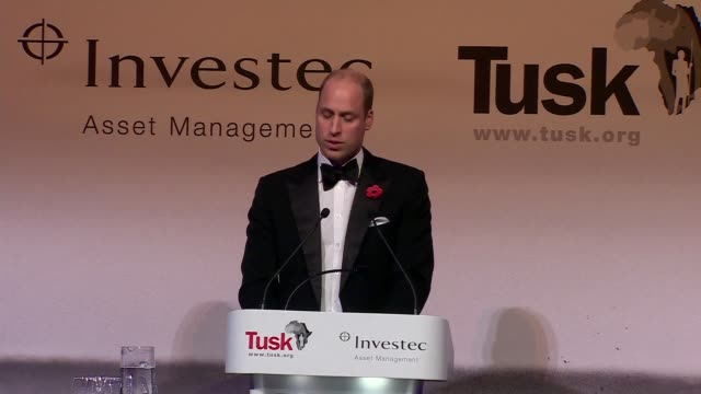 stockvideo's en b-roll-footage met duke and duchess of cambridge attend tusk conservation awards; england: london: westminster: banqueting house: prince william, duke of cambridge... - kate silverton