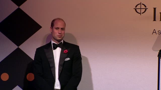 stockvideo's en b-roll-footage met duke and duchess of cambridge attend tusk conservation awards; england: london: westminster: banqueting house: prince william, duke of cambridge on... - kate silverton