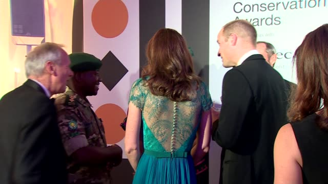 stockvideo's en b-roll-footage met duke and duchess of cambridge attend tusk conservation awards; england: london: westminster: banqueting house: prince william, duke of cambridge and... - kate silverton