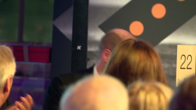 stockvideo's en b-roll-footage met duke and duchess of cambridge attend tusk conservation awards; england: london: westminster: banqueting house: kate silverton speech sot william and... - kate silverton