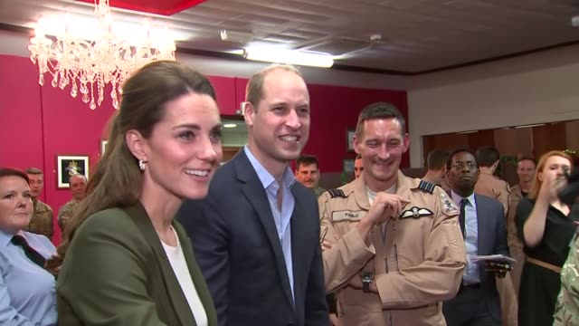 Duke and Duchess of Cambridge Christmas visit to British troops CYPRUS RAF Akrotiri PHOTOGRAPHY** Prince William Duke of Cambridge and Catherine...