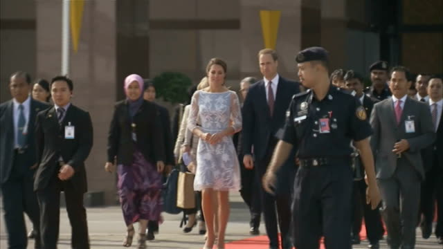 Duke and Duchess of Cambridge Far East South Pacific tour Airport Departure from Kuala Lumpur MALAYSIA Kuala Lumpur Sepang Airport Prince William...