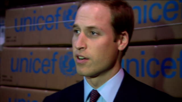 duke and duchess of cambridge help with un aid efforts for east africa ****flash copenhagen int prince william duke of cambridge catherine and... - visit stock videos & royalty-free footage