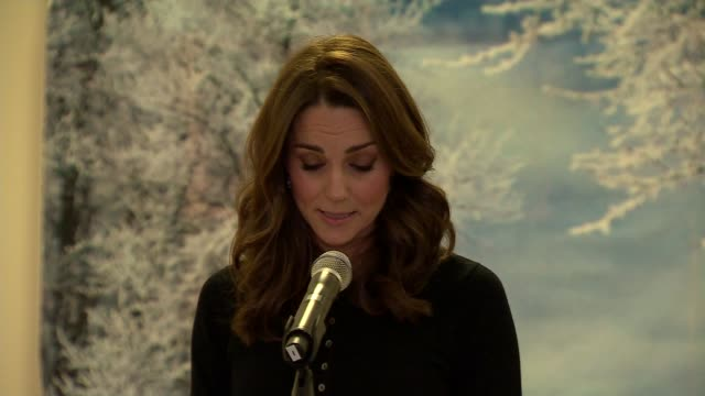 duke and duchess of cambridge host christmas party at kensington palace england london kensington palace int catherine duchess of cambridge speech at... - kensington palace video stock e b–roll