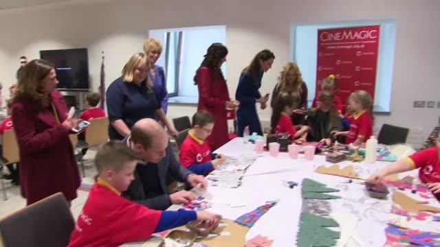 duke and duchess of cambridge in northern ireland visit cinemagic at the braid centre northern ireland county antrim ballymena braid arts centre... - beautician stock videos & royalty-free footage