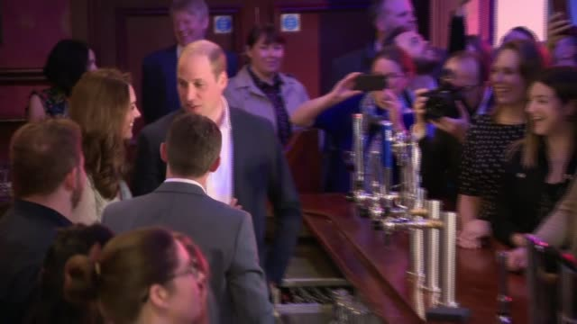 duke and duchess of cambridge in northern ireland: william and kate at belfast empire music hall; northern ireland: belfast: empire music hall: int... - lager stock videos & royalty-free footage