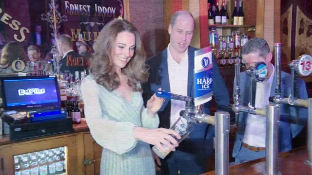 duke and duchess of cambridge in northern ireland william and kate at belfast empire music hall northern ireland belfast empire music hall... - lager stock videos & royalty-free footage