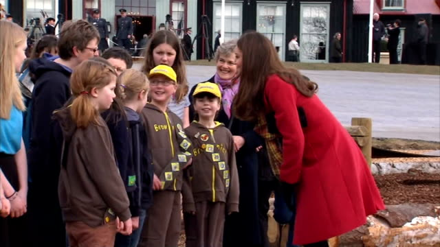 Duke and Duchess of Cambridge join Prince Charles at open outdoor centre in Ayrshire SCOTLAND Ayreshire Cumnock EXT **Music heard SOT** Catherine...