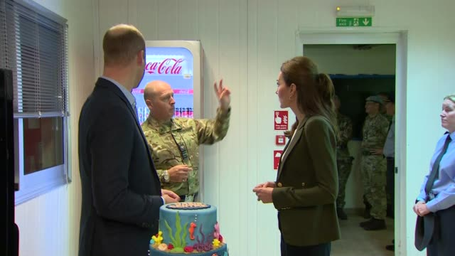 Duke and Duchess of Cambridge make Christmas visit to British troops ****FLASH INT Prince William Duke of Cambridge and Catherine Duchess of...