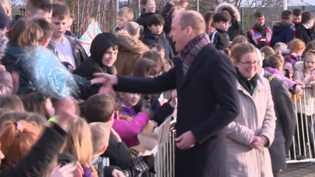 duke and duchess of cambridge meet dundee michelin workers; scotland: dundee: the crescent community centre: ext catherine, duchess of cambridge... - dundee scotland stock videos & royalty-free footage