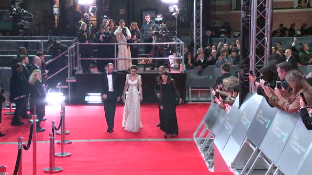 duke and duchess of cambridge on red carpet at bafta film awards 2020 - formal stock videos & royalty-free footage
