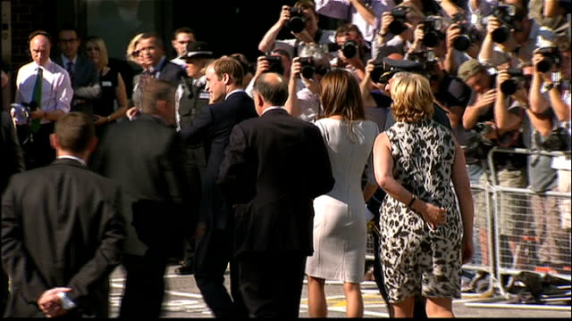 duke and duchess of cambridge open cancer unit at the royal marsden hospital arrival england surrey sutton royal marsden hospital ext cars arriving /... - nurse waving stock videos & royalty-free footage