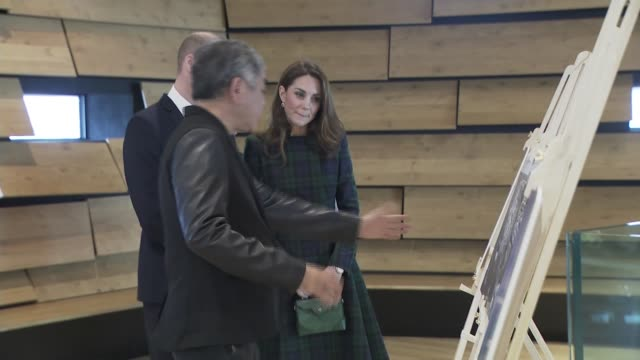 duke and duchess of cambridge open victoria & albert museum in dundee; scotland: dundee: victoria & albert museum: int prince william, duke of... - dundee scotland stock videos & royalty-free footage