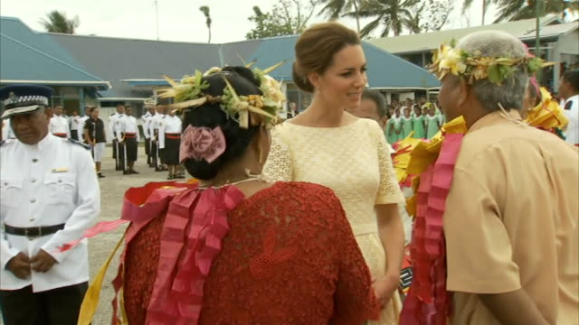 Duke and Duchess of Cambridge Pacific Island Tour Day 8 Tuvalu TUVALU EXT General views of Kate Duchess of Cambridge and Prince William Duke of...