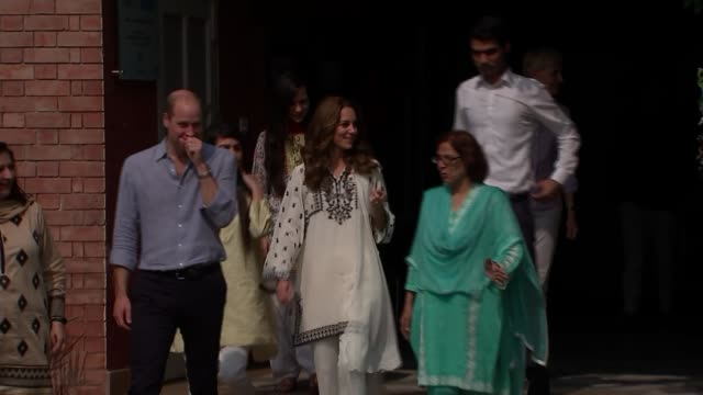 duke and duchess of cambridge pakistan tour orphanage visit pakistan punjab lahore sos children's village int prince william duke of cambridge and... - punjab pakistan stock videos & royalty-free footage