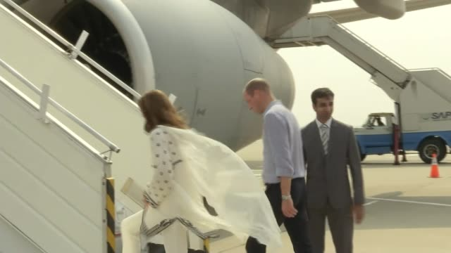 duke and duchess of cambridge pakistan tour: royal plane rocked by extreme turbulence; pakistan: lahore: ext prince william, duke of cambridge and... - punjab pakistan stock videos & royalty-free footage