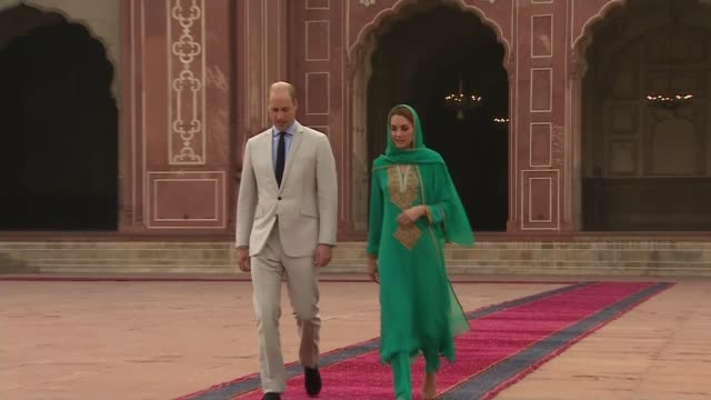 duke and duchess of cambridge pakistan tour: shaukat khanum cancer hospital visit; pakistan: lahore: ext prince william, duke of cambridge and... - lahore pakistan stock videos & royalty-free footage