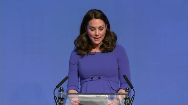 Duke and Duchess of Cambridge Prince Harry and Meghan Markle Royal Foundation Forum Tina Daheley speaking SOT Catherine Duchess of Cambridge onto...