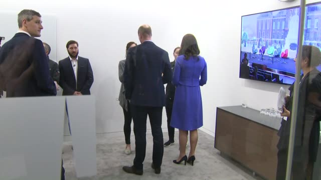 Duke and Duchess of Cambridge Prince Harry and Meghan Markle visit Aviva offices ENGLAND London City of London Aviva INT Prince Harry and Meghan...