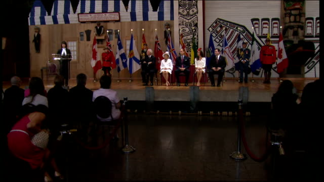 duke and duchess of cambridge royal tour of canada: day 2: citizenship ceremony; duke and duchess sitting with david johnston, governor general of... - citizenship stock videos & royalty-free footage