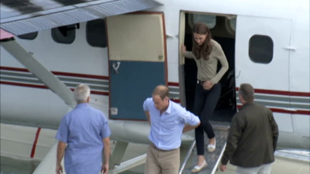 duke and duchess of cambridge royal tour of canada day 7 alberta honeymoon island canada northwest territories yellowknife forest area seaplane pilot... - pullover stock videos & royalty-free footage