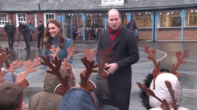duke and duchess of cambridge royal train tour: berwick school visit; england: northumberland: berwick-upon-tweed: holy trinity church of england... - animal body part stock videos & royalty-free footage