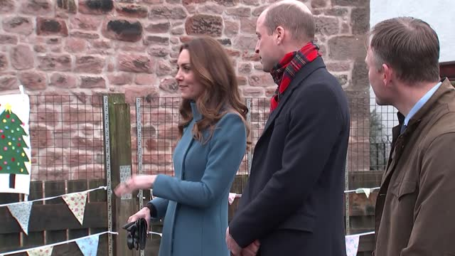duke and duchess of cambridge royal train tour: berwick school visit; england: northumberland: berwick-upon-tweed: holy trinity church of england... - cultivated stock videos & royalty-free footage
