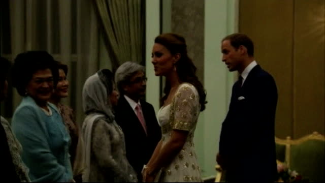 duke and duchess of cambridge sue french magazine over topless photographs malaysia kuala lumpur istana negara int various of william and catherine... - state dinner stock videos and b-roll footage