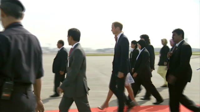 Duke and Duchess of Cambridge sue French magazine over topless photographs MALAYSIA Kuala Lumpur airport EXT Prince William Duke of Cambridge and...