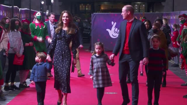 duke and duchess of cambridge take children to christmas pantomime; england: london: london palladium: int **warren interview partly overlaid sot**... - child stock videos & royalty-free footage