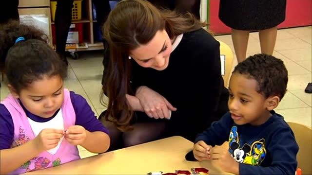 duke and duchess of cambridge three day visit kate visits child development centre usa new york harlem northside centre for disadvantaged children... - tights stock videos & royalty-free footage