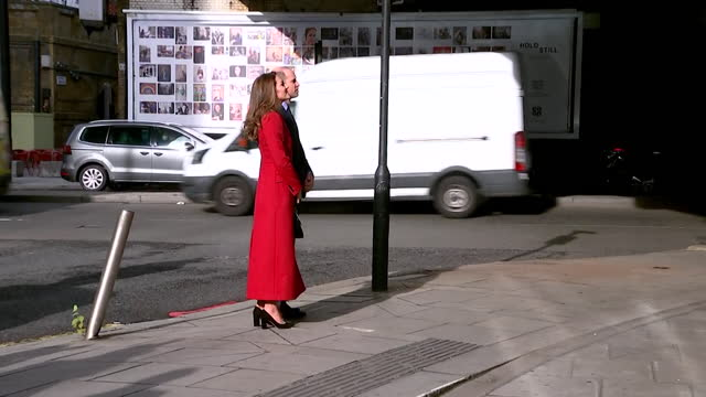 duke and duchess of cambridge visit billboards showing hold still community photography project, which was photos portraying the coronavirus lockdown - photography stock videos & royalty-free footage
