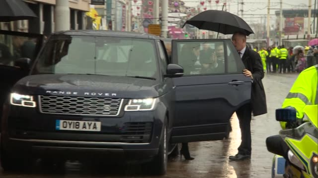duke and duchess of cambridge visit blackpool tower england lancashire blackpool crowds outside blackpool tower awaiting royal arrival/ prince... - blackpool stock-videos und b-roll-filmmaterial