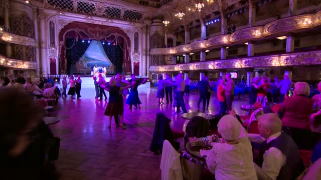Duke and Duchess of Cambridge visit Blackpool Tower ENGLAND Lancashire Blackpool Blackpool Tower INT Various of Prince William Duke of Cambridge and...