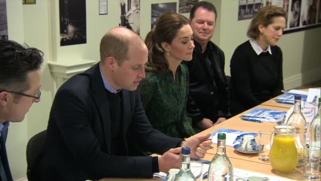 Duke and Duchess of Cambridge visit Blackpool Tower ENGLAND Lancashire Blackpool Blackpool Tower INT Various shots of Prince William Duke of...
