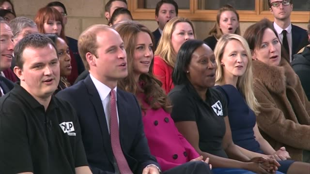 duke and duchess of cambridge visit charities in south london england london gipsy hill christ church int **music heard sot** prince william duke of... - pink singer stock videos and b-roll footage