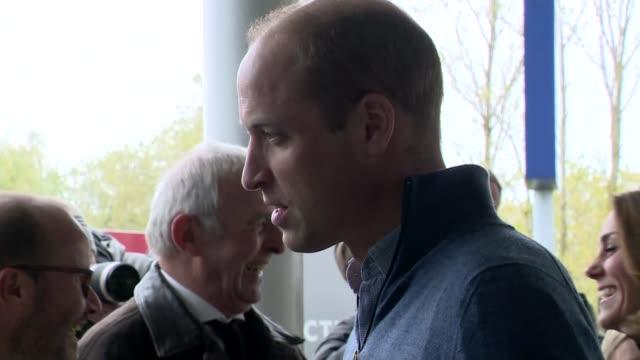 duke and duchess of cambridge visit coach core initiative in basildon; england: essex: basildon: ext prince william, duke of cambridge and catherine,... - basildon stock videos & royalty-free footage