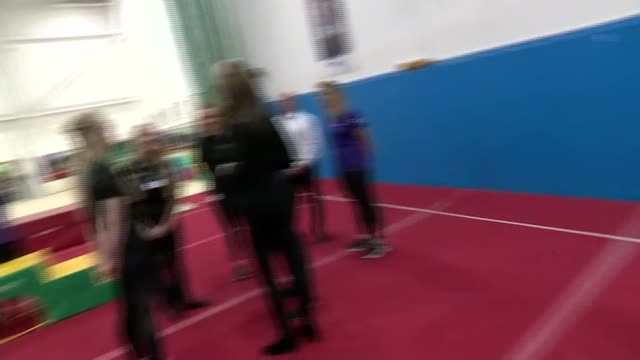 duke and duchess of cambridge visit coach core initiative in basildon; england: essex: basildon: william and kate watching kids in gym and chatting... - basildon stock videos & royalty-free footage