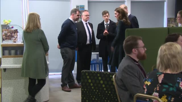 duke and duchess of cambridge visit community centre in dundee and meet dundee michelin workers; scotland: dundee: the crescent community centre: int... - dundee scotland stock videos & royalty-free footage