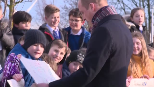 duke and duchess of cambridge visit community centre in dundee and meet dundee michelin workers; scotland: dundee: the crescent community centre: ext... - dundee scotland stock videos & royalty-free footage