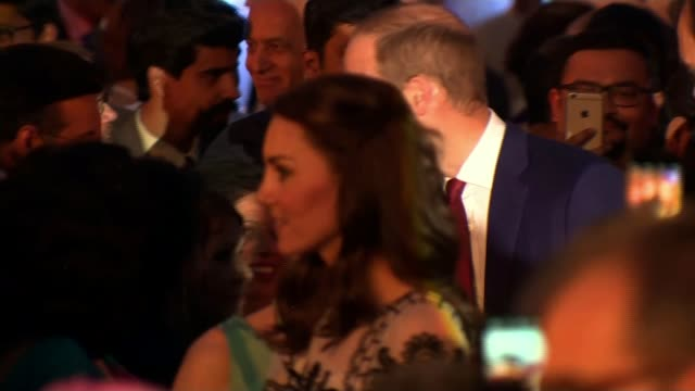 duke and duchess of cambridge visit: day two; india: new delhi: ext / night **music heard sot** prince william, duke of cambridge and catherine,... - 90th birthday stock videos & royalty-free footage