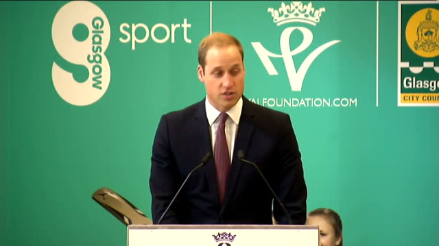 duke and duchess of cambridge visit donald dewar centre in glasgow; prince william, duke of cambridge speech sot - thank you - catherine and i have... - buenos aires province stock videos & royalty-free footage