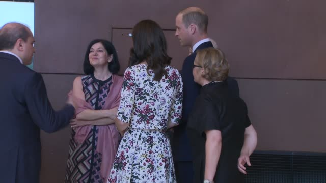 duke and duchess of cambridge visit european solidarity movement prince william duke of cambridge and catherine duchess of cambridge meet lech walesa... - visit stock videos & royalty-free footage