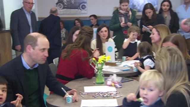 duke and duchess of cambridge visit ice cream parlour in swansea wales swansea int prince william duke of cambridge asks child if he likes vanilla or... - living room stock videos & royalty-free footage