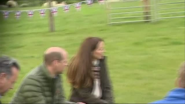 duke and duchess of cambridge visit manor farm in county durham; england: county durham: near darlington: little stainton: manor farm: ext **picture... - cultivated stock videos & royalty-free footage
